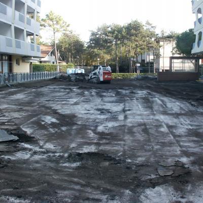 Fase 1 - demolizoione pavimentazione esistente e rimozione vecchio sistema impermeabilzzante 1