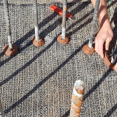 Dettaglio sigillatura ferri armatura pali di sotto fondazione
