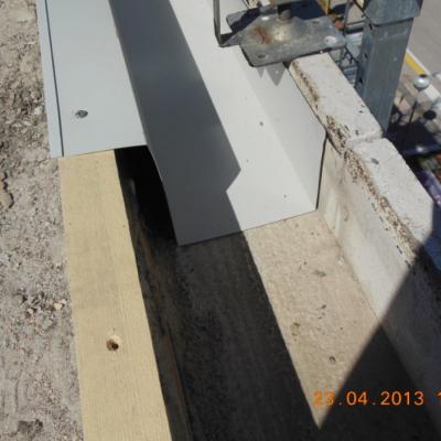 Dettaglio nuovo canale di gronda in alluminio